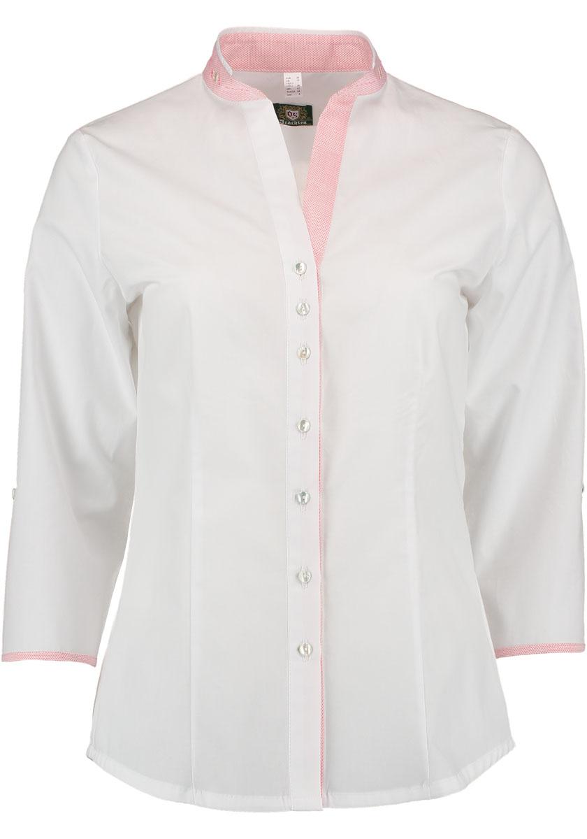Camasa dama alba detalii roz
