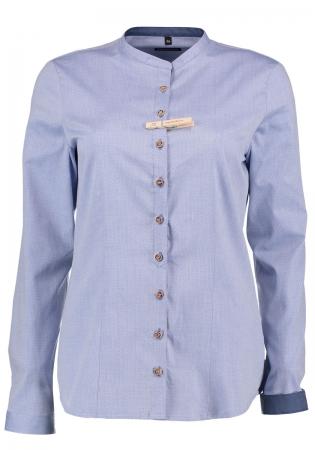 Camasa dama albastra detalii Orbis