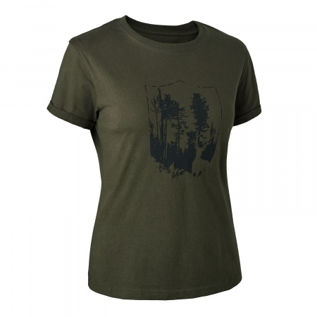 Tricou  dama cu Shield Deerhunter